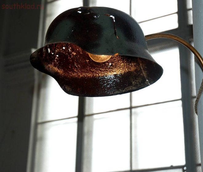 Светильник из каски