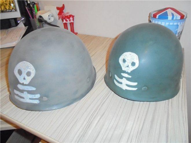 Шлем штурмовика из строительной каски