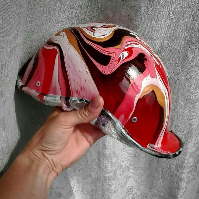 Велосипедный шлем из строительной каски