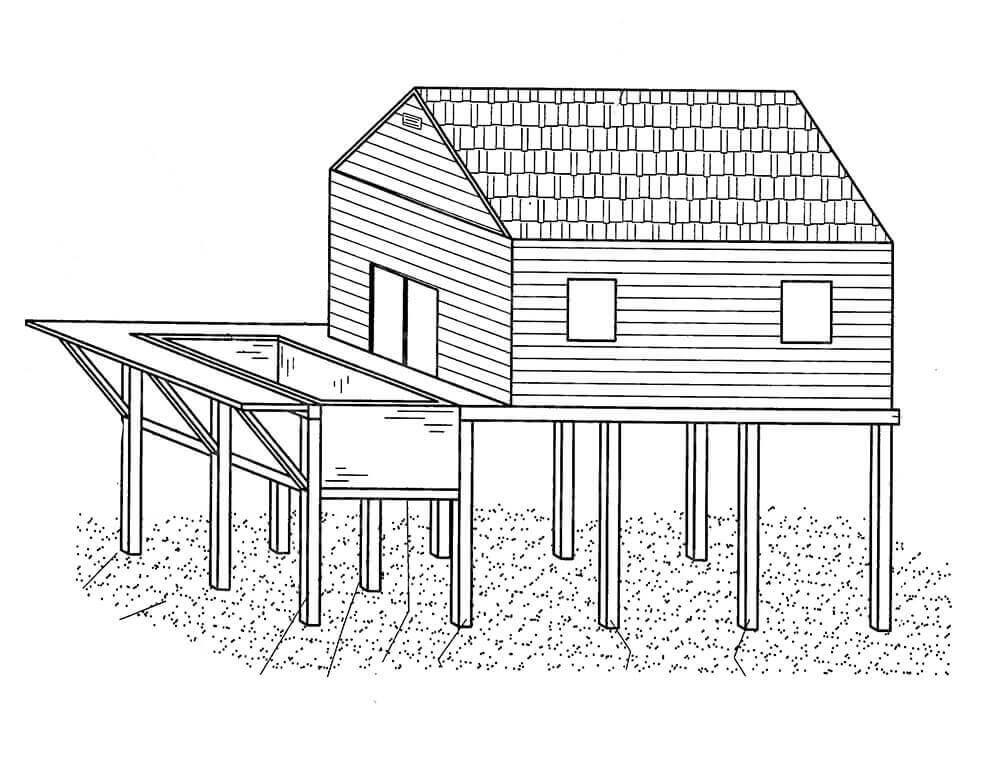 Подготовка проекта дома на воде