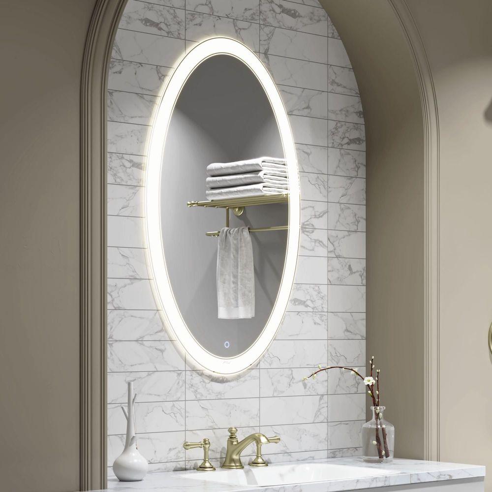 Как повесить зеркало в ванной на плитку